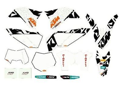 Picture of 77308190700 RACING GRAPHICS KIT WHITE