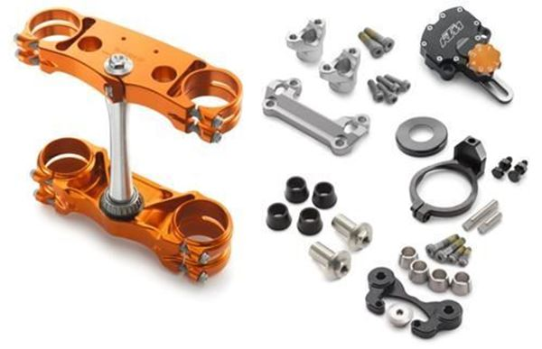 Picture of Factory triple clamp/steering damper kit | EXC-(F)/XC-W 14-20 |