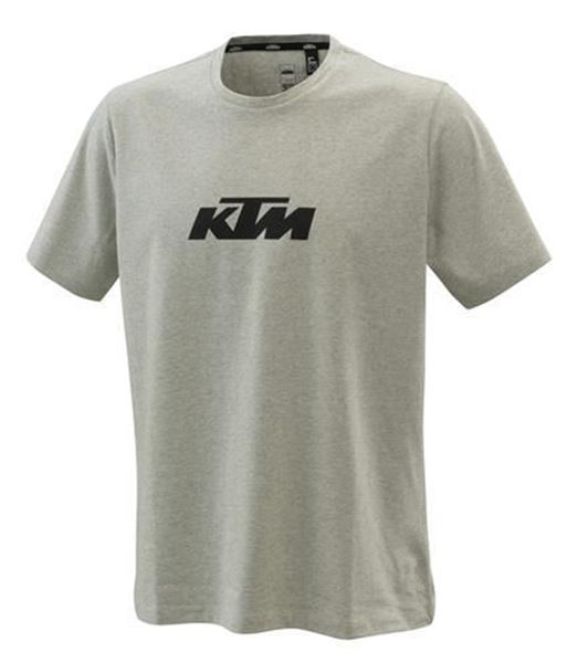 Picture of KTM PURE LOGO TEE GREY/MELANGE - 2021