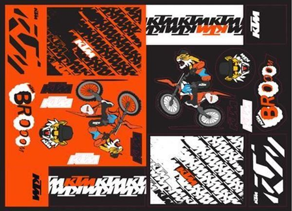 Picture of TEAM GRAPHIC STICKER SHEET - 2021